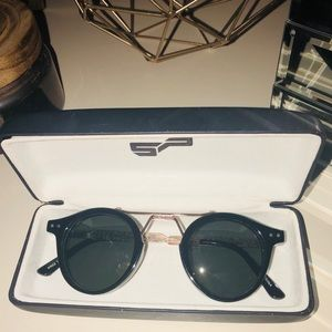 SPITFIRE Black Sunglasses from Revolve